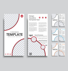 Design flyers narrow size 4 color options vector