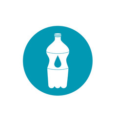Drinks plastic bottle water cold fresh liquid blue vector