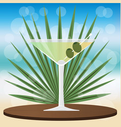 dry martini cocktail vector image