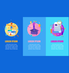 educational set of vertical banners copy space vector image