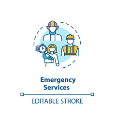 emergency service concept icon vector image