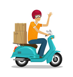 Express delivery fast shipment concept happy vector