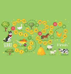 farm board game template vector image