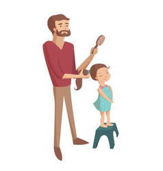 father and child cartoon vector image