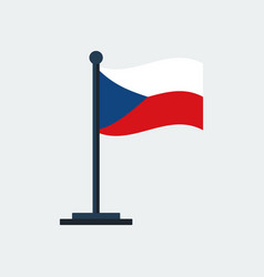 flag of czech-republicflag stand vector image