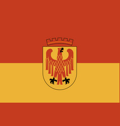 Flag of potsdam in brandenburg germany vector