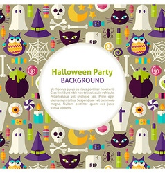 Flat Pattern Halloween Party Background vector
