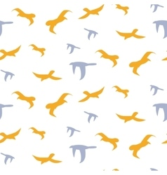 Flock of birds seamless pattern vector