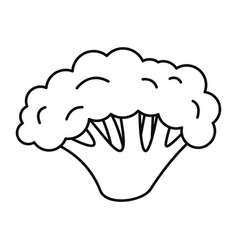 fresh broccoli icon outline style vector image