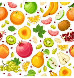 fresh natural food seamless pattern vector image