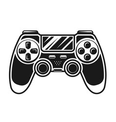 Gamepad black and white object or element vector