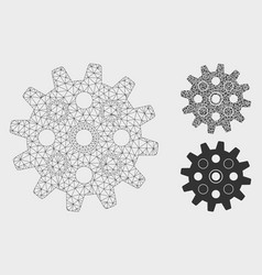 Gearwheel mesh carcass model and triangle vector