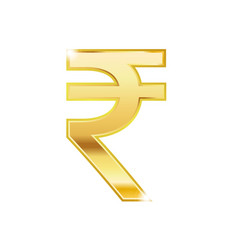 golden rupee symbol isolated web icon vector image