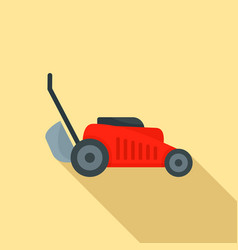 Grass cut machine icon flat style vector