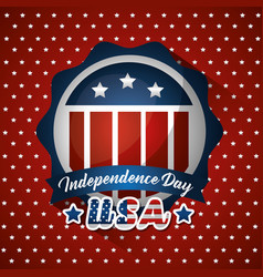 happy independence day american vector image