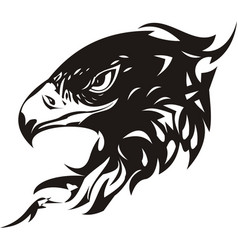 Head of an eagle in the form tatto vector