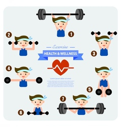 Health and wellness cartoon concept vector