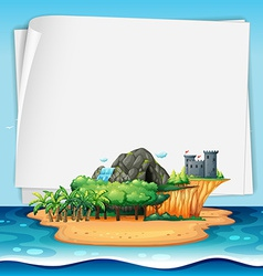 Island and sign vector image