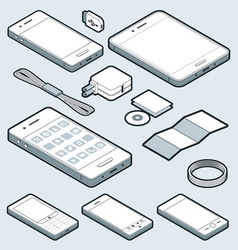 Isometric Mobile vector image