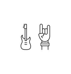 Line rock concert icon on white background vector