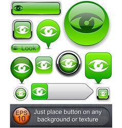 Look high-detailed modern buttons vector