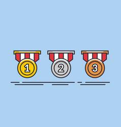 medal set gold medal silver medal bronze vector image