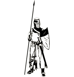 Medieval Knight with Spear vector
