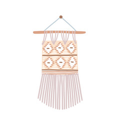 modern macrame flat beautiful vector image