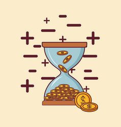 Money hourglass design vector