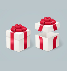 Open and close present box vector