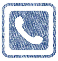 Phone fabric textured icon vector