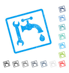 Plumbing icon rubber watermark vector