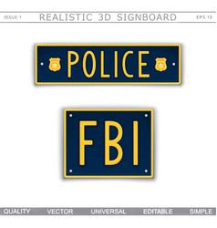 Police fbi vector