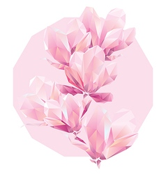 Polygon flowers vector