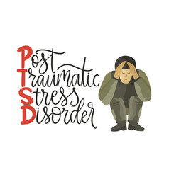 Ptsd post traumatic stress disorder vector