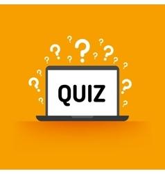 quiz test survey exam concept vector image