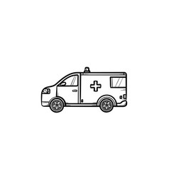 resuscitation car hand drawn outline doodle icon vector image