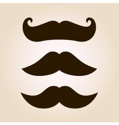Retro mustache set vector image