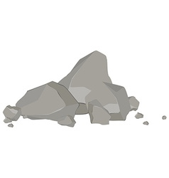 Rock and stones vector image