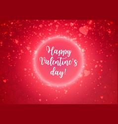 romantic red happy valentines day calligraphy card vector image