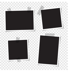 set blank photos for collage vector image