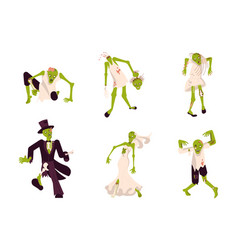 Set funny zombies vector