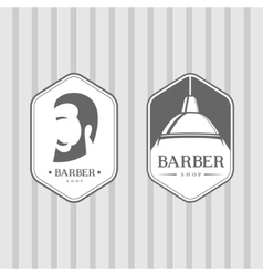 Set of vintage barber shop logos vector image
