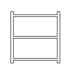shelf line icon vector image