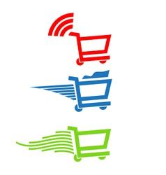 Shopping carts vector