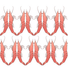 Shrimp seamless pattern regular ornament vector