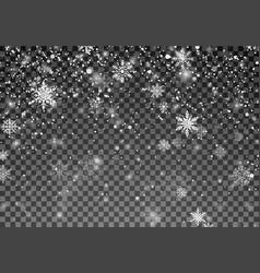 snowfall template christmas snow falling vector image