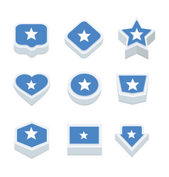 Somalia flags icons and button set nine styles vector