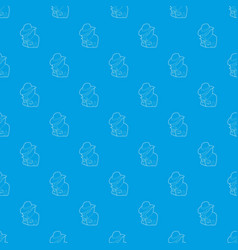 spy pattern seamless blue vector image