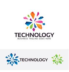 technology logo design vector image